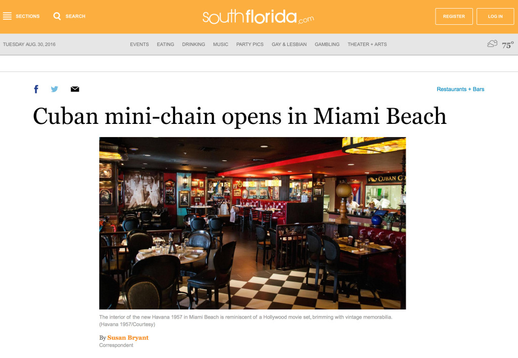 Cuban Mini Chain Opens In Miami Beach