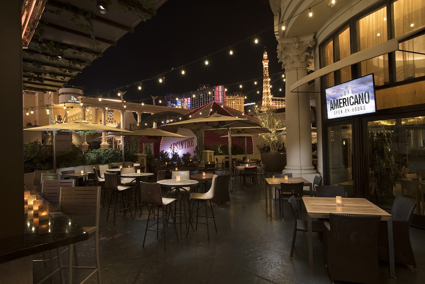 Cafe Americano Open 24 hours at Caesars Palace